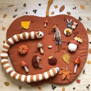 Baby Floor Play Mat Fruit Shape Crawling Rug Blanket Children Kids Playmat Pad Carpet Nursery Room Decorations 210401