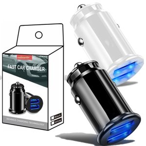 Universal quick Dual Usb 3.4A Car Charger Mini Portable Auto Power Adapter For Iphone Samsung Lg pc mp3 With Retail box
