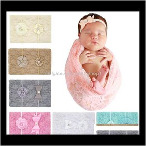 Swaddling Lace Swaddle Wrap Blanket Wraps Blankets Nursery Bedding Towelling Baby Infant Wrapped Cloth With Headbands Pography Props F Rdkst