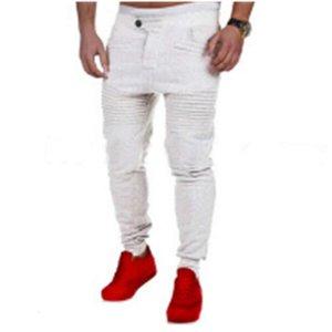 Erkek Pantolon Harem Joggers Ter Pantolon Elastik Manşet Bırak Crotch Biker Joggers Pantolon Erkekler Için Siyah Gri Koyu Gri Beyaz