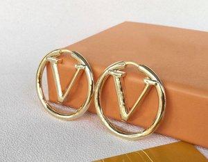 Mode Gold Hoop Boucles d'oreilles pour Lady Femmes Party Mariage Amoureux de mariage Bijoux de fiançailles pour la mariée