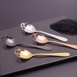 Schädellöffel Kaffeeschauflinge Teelöffel Schlagstahl Mischung Dessert Neuheit Trinkgeschirr Küchenwerkzeuge