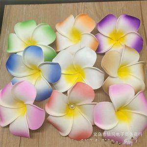 100pcs 7cm Wholesale Plumeria Hawaiian Foam Frangipani Flower For Wedding Party Hair Clip Flower jlloiM lucky 680 S2