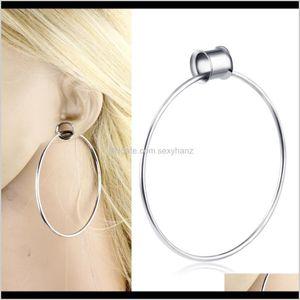 & Drop Delivery 2021 Surgical Steel Tunnels Gauges Stretcher Earring Plugs Expander Saddle Dangle Hoop Ear Lobe Jewelry 6-16El Piercing Body
