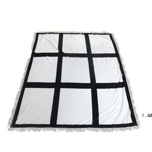 الولايات المتحدة الأسهم الجديدة التسامي بطانية بطانية فارغة بيضاء للتسامي السجاد مربع البطانيات للتسامي theramal نقل الطباعة البساط EWE6093