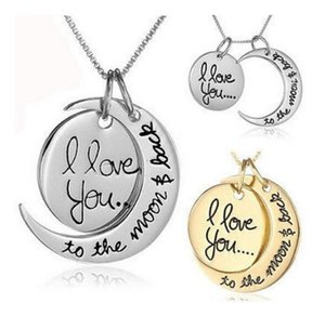 To 2021 Moon Necklace Necklace Link You Lover Love Mom Chain Back For I Moon Sister Family Pendant The And Vnskq
