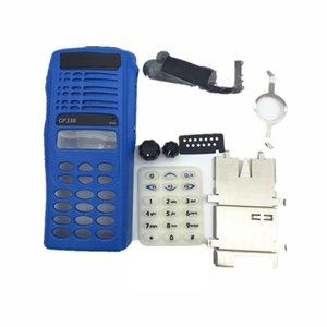 Blue anteriore Shell Housing Case Cover Cover Kit di riparazione Volume Channel Knob per Motorola GP338 GP380 PTX760 Radio Walkie Talkie