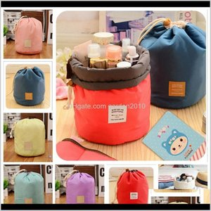 6Colors Womens Waterproof Storage Bags Organizer Cylinder Cosmetic Bag Nylon Dstrings Travel Pouch Novelty Items Gga835 120Pcs Xisl1 Mb1Yd