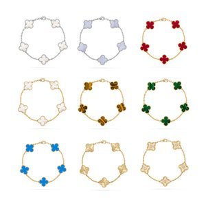 Fashion trend 925 Silver Boutique Jewelry Lucky Ladies Clover Charm Bracelets