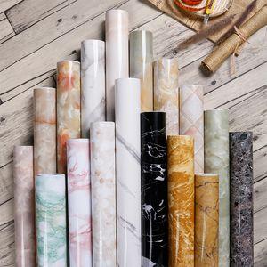 Papier peint auto-adhésif auto-adhésif de marbre Premium PVC Auto-adhésif autocollant DIY Meubles armoire armoire Rénovation Accueil Décor Cuisine Autocollant de salle de bain