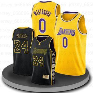 Basketbal Jersey Russell 0 Westbrook Jersey Basketball LeBron 23 James Anthony 3 Davis Alex 4 Caruso Men