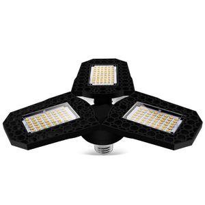 Car Headlights LED Lamp E27 Bulb 40 60 80W Garage Light 110V 220V Deform For Workshop Warehouse Factory Gym