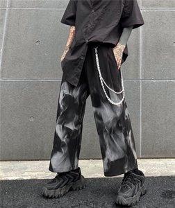 Hip Hop Dark Streetwear Cargo Pants 2021 Vintage Tie-dye Loose Japanese Harajuku Casual Joggers Men Trousers Men's