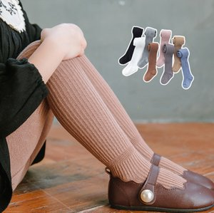 INS baby girls pantyhose cotton knitting princess leggings children vertical stripe knitted tight kids bottoms F4995