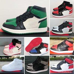 2021 Haut Qualité 1 1S Haute Homme Homme Femme Extérieur Run Chaussures Université Blue Sport Classic Sneakers SIZZE 36-47