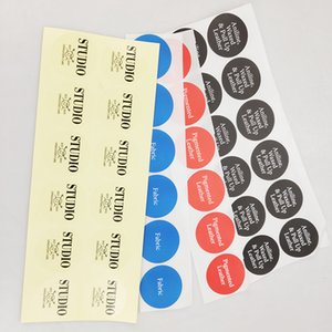High quality factory manufacture sticker with logo printing adhesive label for custom