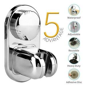 목욕 액세서리 세트 샤워 헤드 홀더 조정 가능한 핸드셋 랙 브래킷 흡입 컵 벽 휴대용 스탠드 욕실