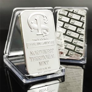 Lion carriage goddess block foreign trade commemorative gift coin square silver-plated Scottsdale High-value collectibles