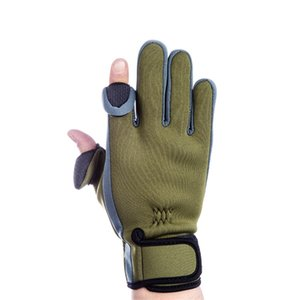 Camouflage Fishing Gloves Hunting Gloves Anti-Slip 2 Fingers Cut Outdoor Camping Cycling Half Finger Sport Gloves Camo 276 B3