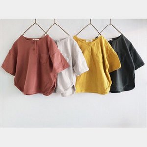 kids clothes girls boys T-shirts children Solid color Tops Tees summer fashion Boutique Japanese casual baby Clothing 4 colors Z2773