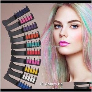 Brosses 10 couleurs Craie Craie Color Colorant temporaire Couleur Temporaire Salon non toxique Tool de teinture DIY ERACV QBAPX