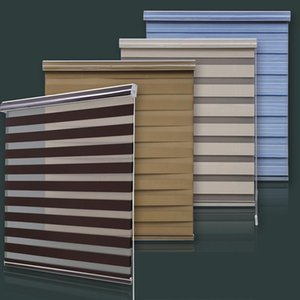 Blinds Manual Plain Color Window Rainbow Shades Zebra Roller With Cassette