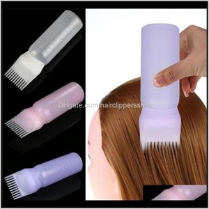 Colors Empty Dye Bottle With Applicator Brush Dispensing Salon Hair Coloring Dyeing Bottles Hairdressing Styling Tool 15N0N Ivx0T