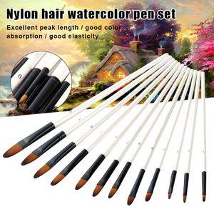 12pcs Artist Paint Brushes Set Acrylic Oil Watercolour Painting Craft Art Kit GHS99 Brush