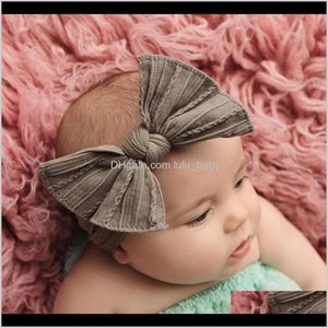 Headbands Jewelry Drop Delivery 2021 Solid Color Elastic Bowknot Headband Twistedwire Rabbit Ears Bands Baby Kids Hair Hoop Will And Sandy Fa