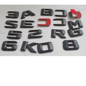 Matt Black Car Trunk Rear Letters Words Number Badge Emblem Decal Sticker for Mercedes Benz CLK Class CLK430