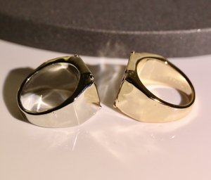 361 Titanium Steel Ring Letter Couple Ring Fashion Trend Flower Ring High Quality Gold Plated Rings Jewelry Supply