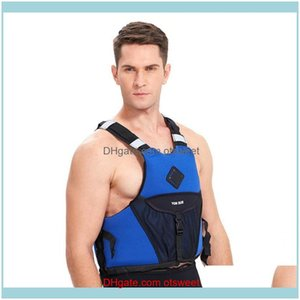 Life Swimming Water Sports Outdoorslife Vest & Buoy Adult Jacket Neoprene Buoyancy High Quality Kayak Fishing Large Pocket Reflective Sticke
