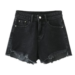 Trousers Hot Pants Jeans Shorts 2020 New Fashion Sexy Ripped Hole Raw Edge Shorts Female Black Color Skinny Denim Shorts Women Summer Denim