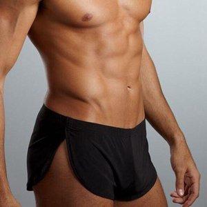 Underpants Fashion Sleepwear Loose Comfy Men's Boxer Pajamas Side Split Underwear Shorts Panties Trunk Sexy