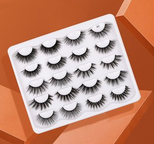 10 Pairs False Eyelashes 3D Faux Mink Lashes Handmade Dramatic Long Thick Soft Natural Wispy Fluffy Reusable Volume Eyelash Eye Makeup Tools