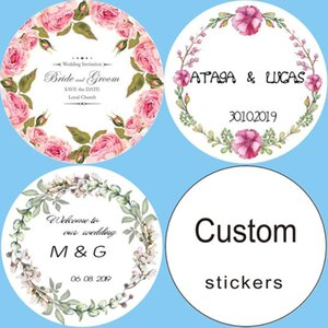 100, customizable personalized birthday gift box tags candy gift stickers logo invitations wedding stickers custom add your name
