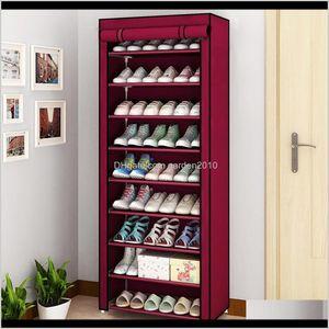 Holders Racks Housekeeping Organization & Garden Drop Delivery 2021 4 5 6 8 10 Layer Dustproof Non-Woven Home Shoe Rack Bedroom Dormitory Cor
