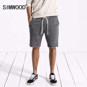 Simwood 2021 yaz yeni erkekler spor rahat vintage moda rahat ter pantolon şort 180440