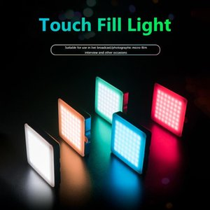 Flashes Condenser Microphone 4-Color LED Fill Light For Professional Po Video Camera Phone Interview Live Recording Rechargeable
