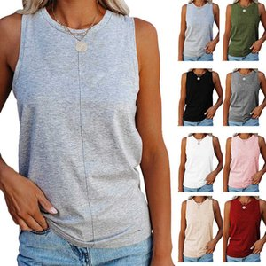 Loose Top T-shirtzti7 Sleeveless Solid Color 2021 Summer Vest