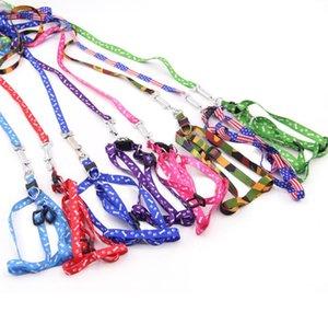 1.0 * 120 cm Hundegeschirr Leinen Nylon gedruckt Einstellbare Haustiere Hunde Halsbänder Welpen Katze Tiere Zubehör Pet Halskette Seil Krawatte Kragen Sn2777