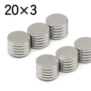 10 20 50 Pcs 20x3 Round NdFeB Neodymium Magnet N35 Super Powerful imanes Permanent Magnetic Disc