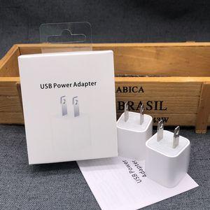 Оригинал 5W US US Plug USB настенное зарядное устройство для iPhone зарядки вилки USB адаптер питания для iPhone 6 7 8 X XS MAX 11