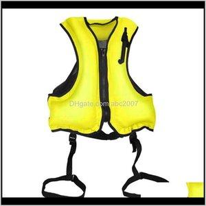 Swim Life Vest Snorkel Jackets Snorkeling Floating Device Outdoor Diving Surfing Inflatable Swimming Orange Floatage Vests Buoy Bqmzm U65Jg