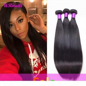 Brazilian Straight Virgin Hair Bundles URmeili cheap human hair weave 3 4 bundles DHgate 100% Remy Human Hair Weave Straight 30 inch bundles