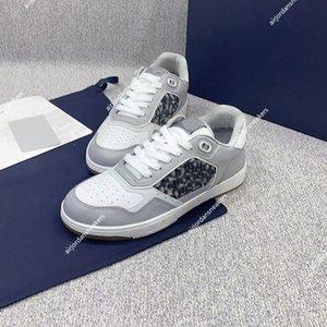 Dior B27 Shoes Высокое качество Классический холст наклонный человек повседневная обувь для женщин мода роскошь дизайнеры низкососных кроссовки размером 35-45