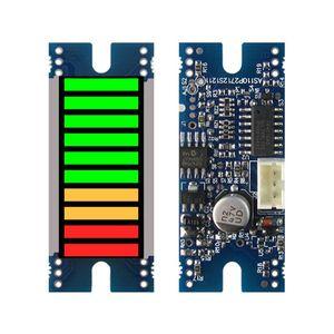 Display Battery Indicator 10seg LED Bargraph Module, DC5V Power Supply, 0-5V Input Signal, 2Red+2Yellow+6Green
