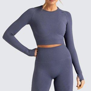 Traje de yoga para mujeres Conjunto de gimnasio sin fisuras Booty Scrunch Active Wear 2020 New Elastic High Cinte Traje Fitness Ropa