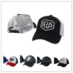 Fashion DEUS Skull mesh strapback Unisex Embroidery 6 panel Snapback Hats golf Sport Brand Baseball Caps gorras bones Men Outdoor Women Adult HHH