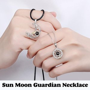 Chains Guardian Of The Sun And Moon Couple's Necklace 100 Languages I Love You Projection Birthday Xmas Valentine's Day Gift AIC88